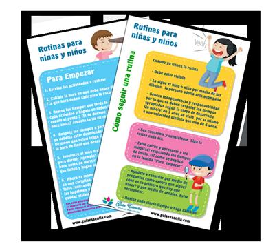 crear una tabla de rutinas para niños